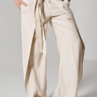 Loose Linen  Wide Leg Pants A05034