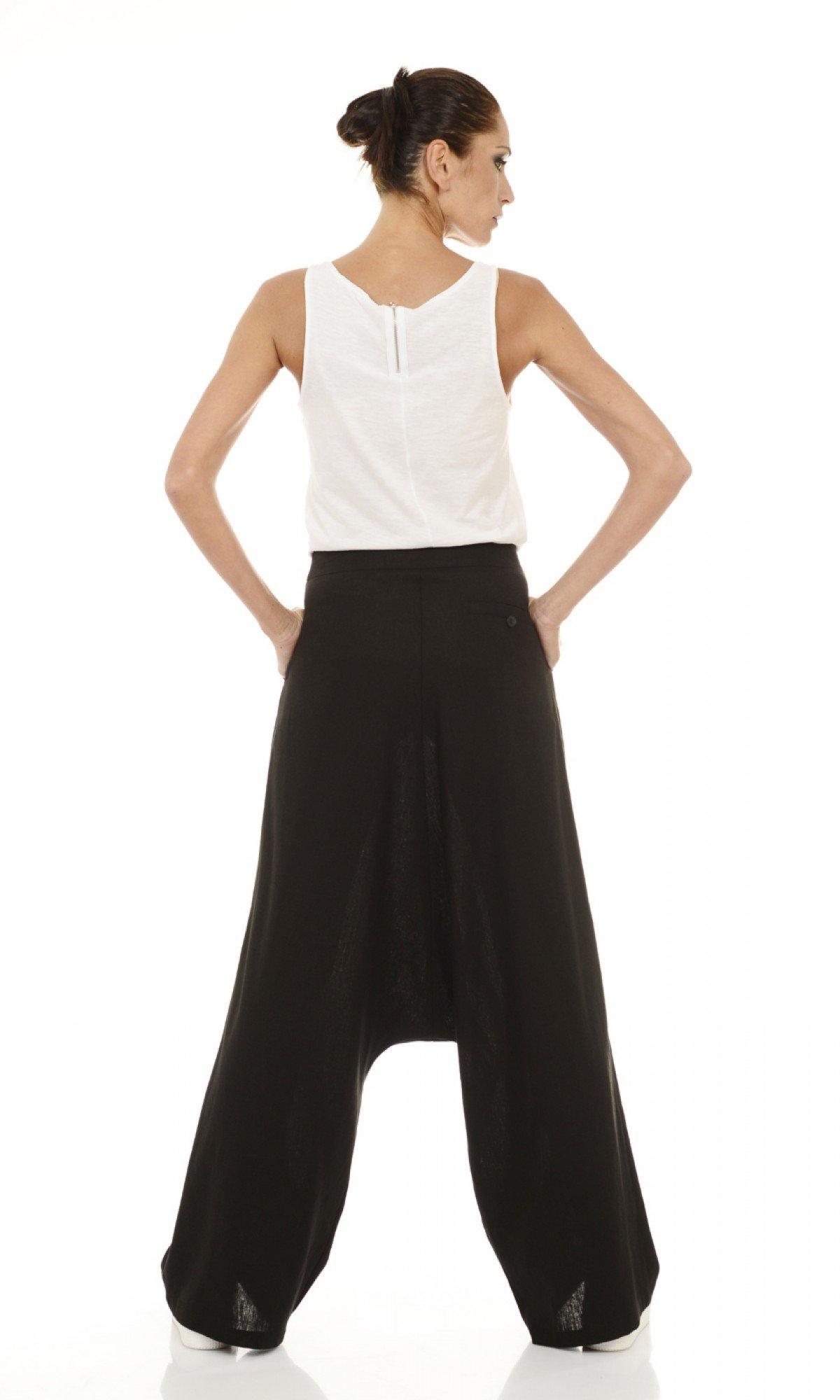 Loose Linen Harem Pants A05131