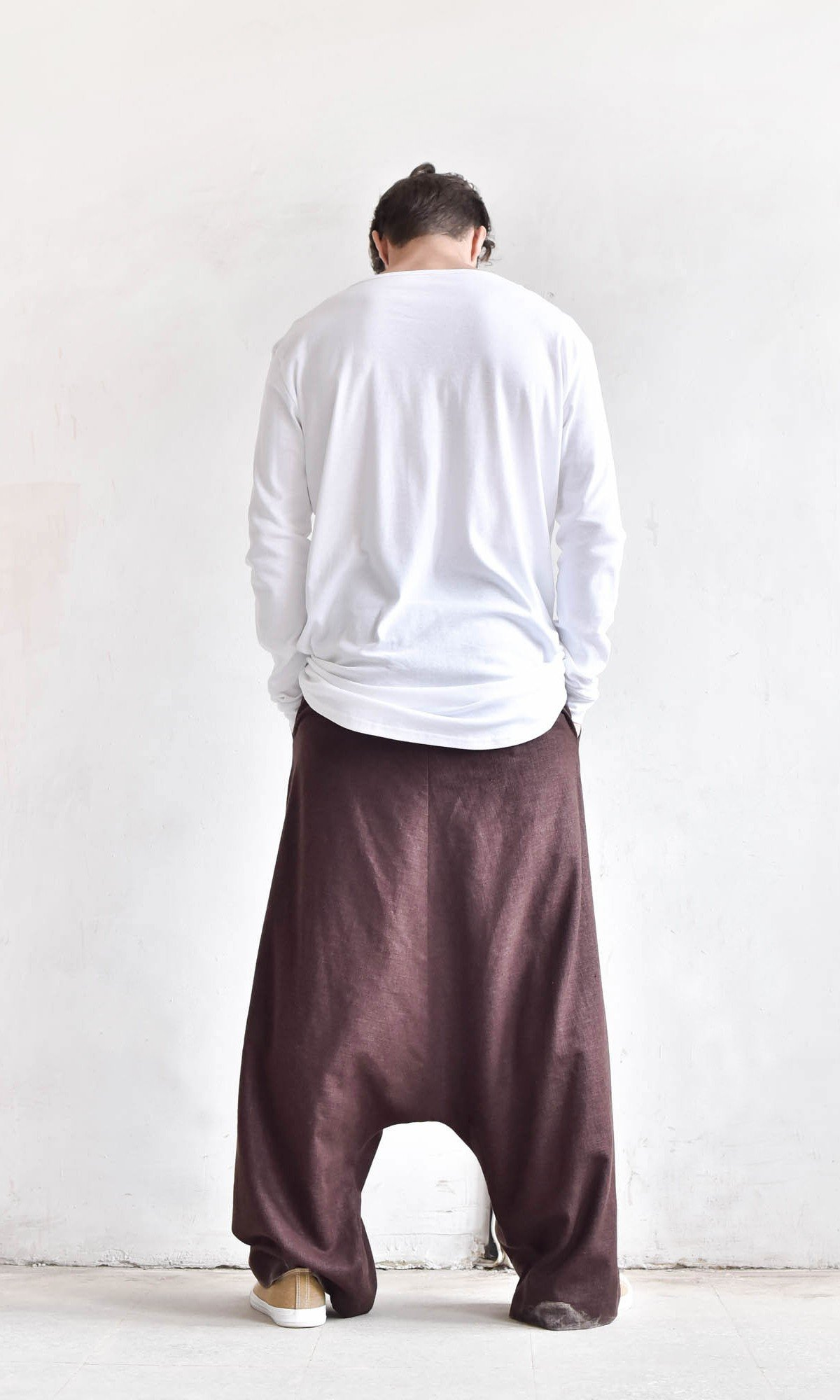Loose Linen Harem Pants A05131