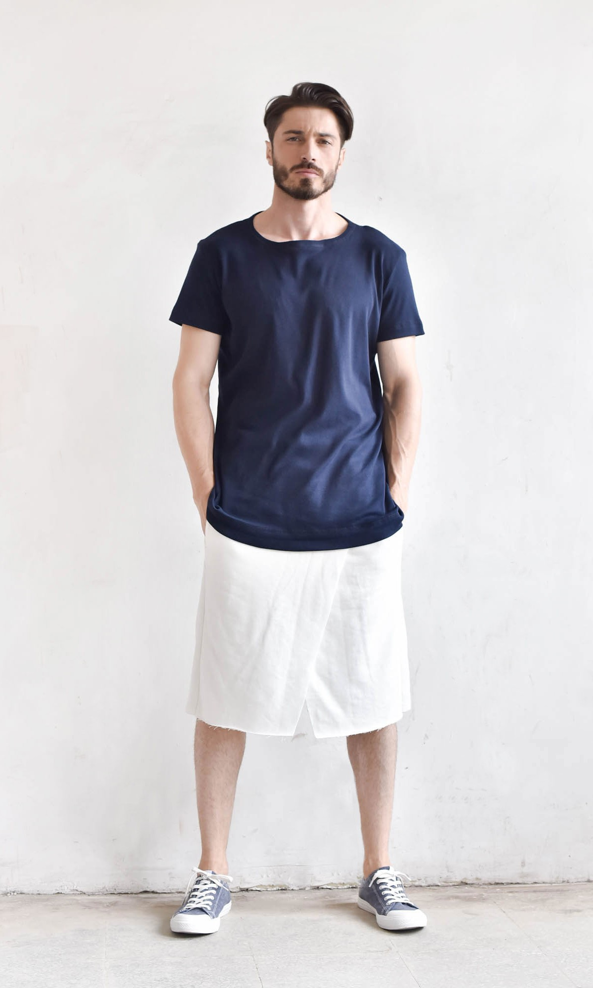 Loose Casual Drop Crotch Shorts A05134M