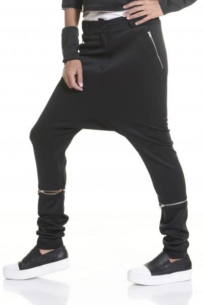 Neoprene Black Drop Crotch Zipper Detachable Pants A05175