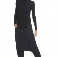 Pants - Black Deep Drop Crotch Pants A05188