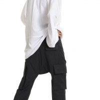 Light Grey Drop Crotch  Pants A05262