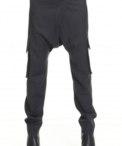 Light Grey Drop Crotch  Pants A05262