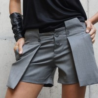 Women - Stylish Unique Cold Wool Shorts A05312