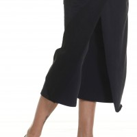 Pants - Loose Cotton Black Skirt like Pants A05320