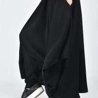 Wide Black Skirt - Pants A05383