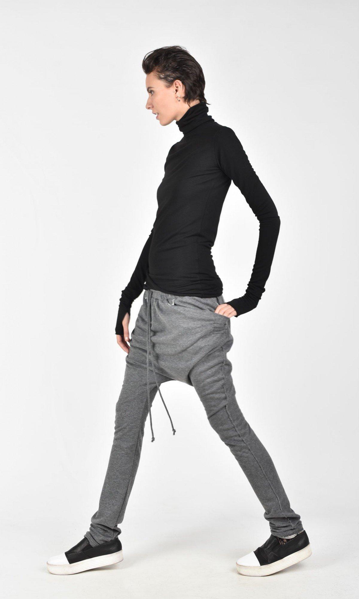 Loose Casual Drop Crotch Pants A05392