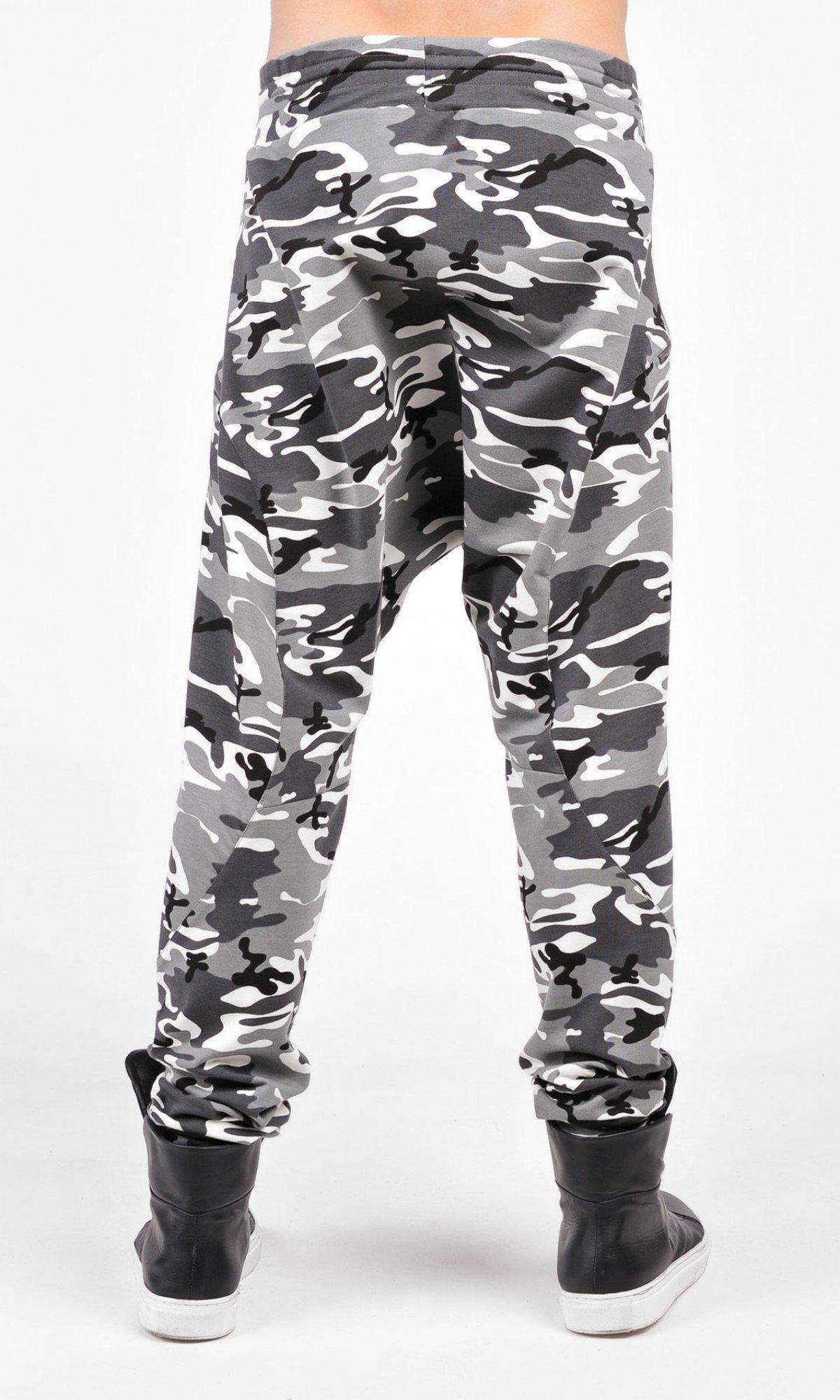 Navy Loose  Drop Crotch Cotton Pants A05240M