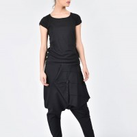 Extravagant Black Drop Crotch Pants A05488