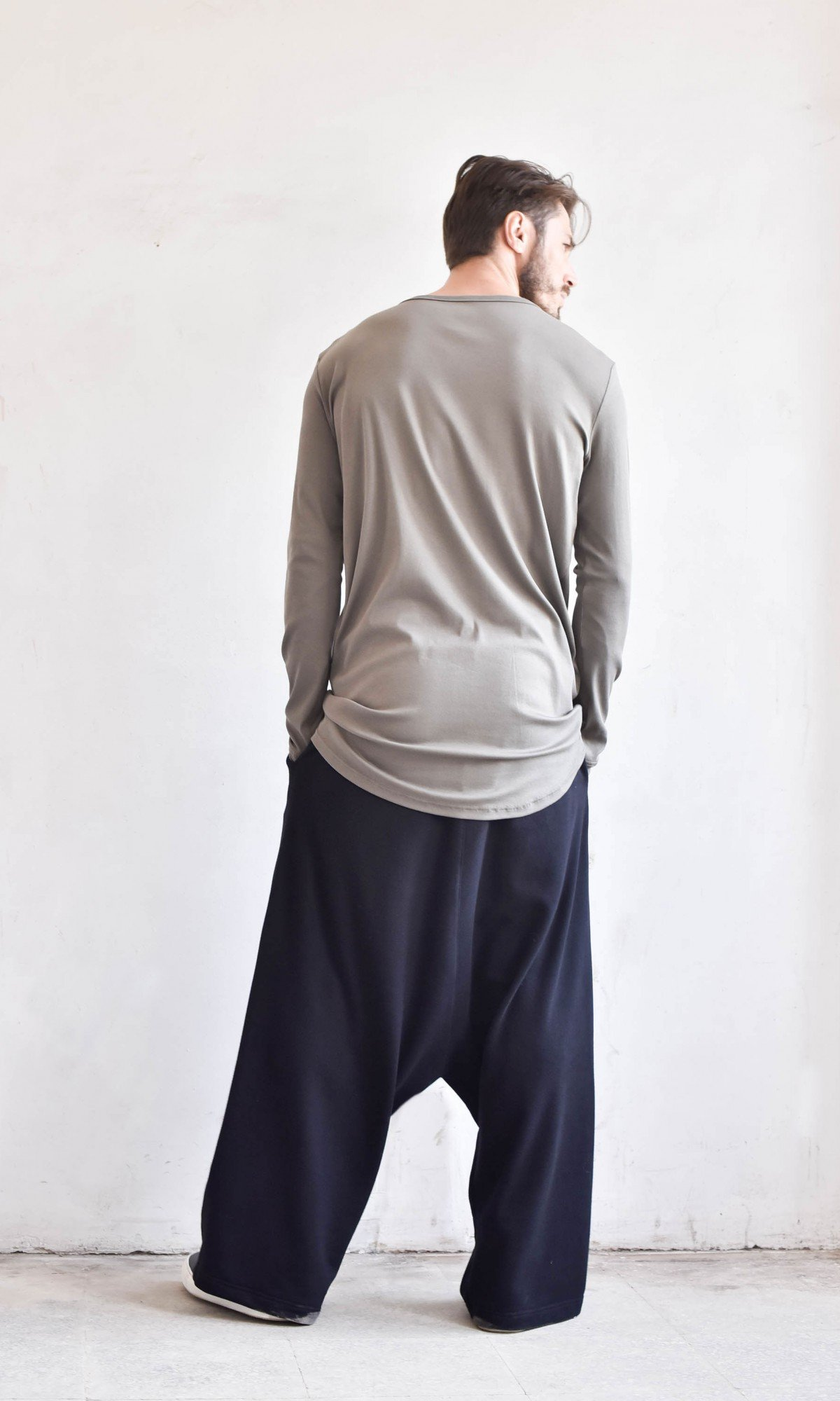 Deep Drop Crotch Pants A05527M