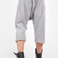 Loose  Drop Crotch Cotton 3/4 Pants A05567M