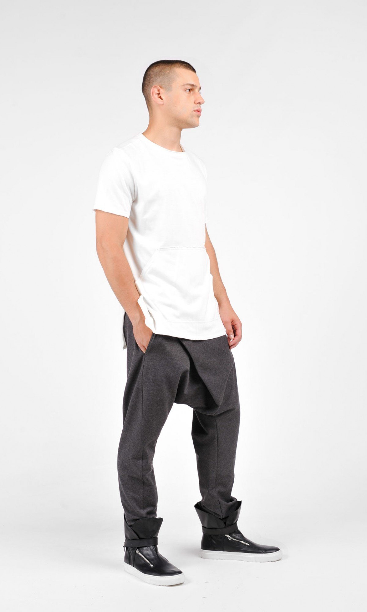 Loose Casual Drop Crotch Harem Pants A05540M