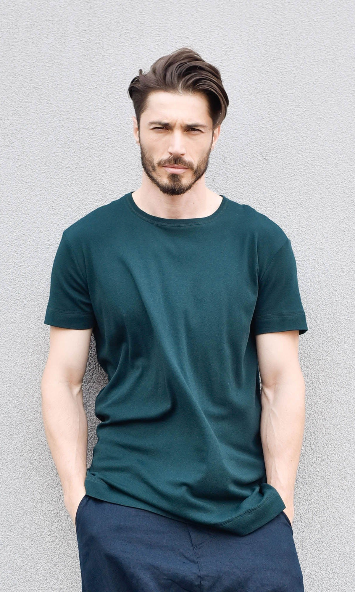 Casual Plain T-shirt A90337M