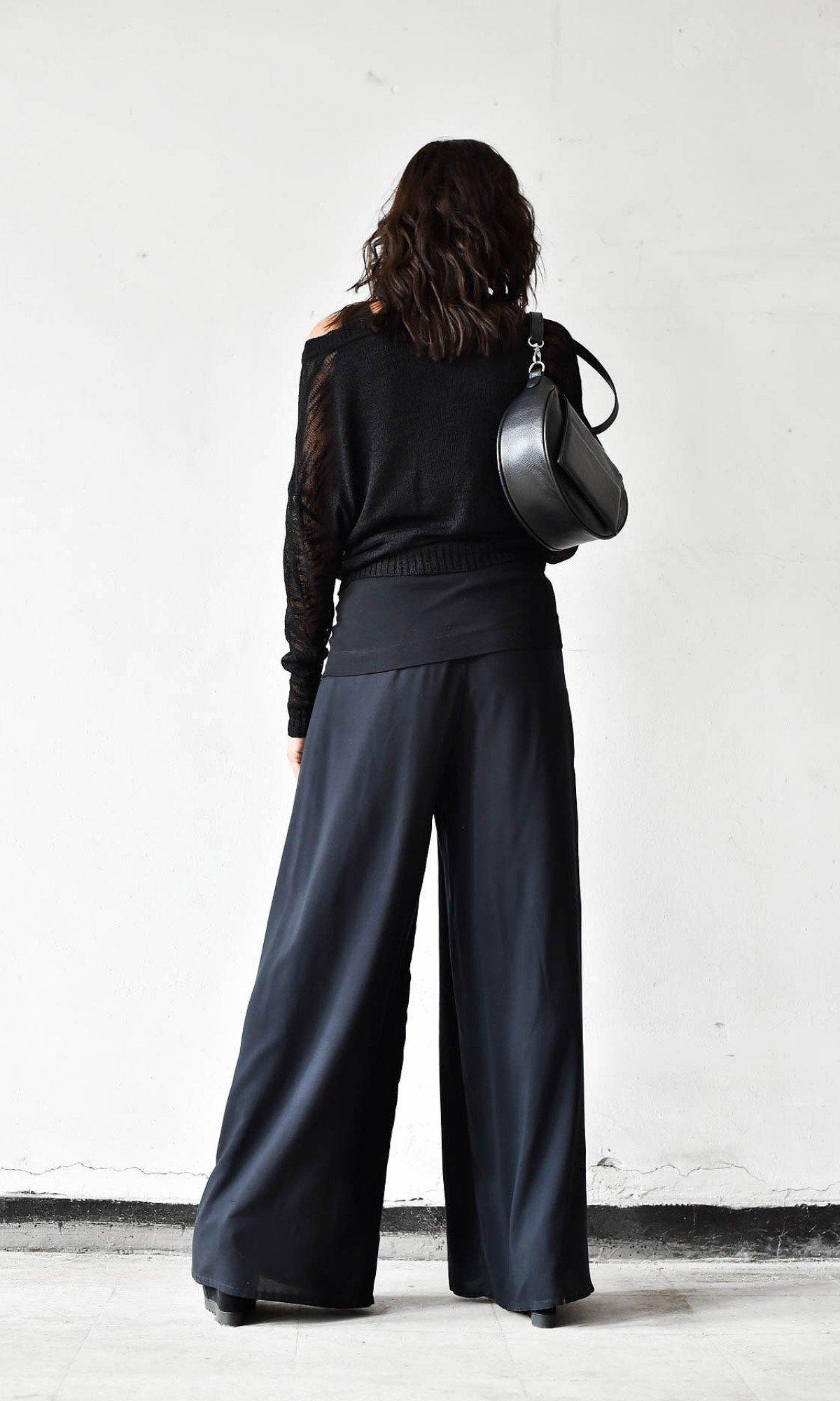 Sheer Wide Leg Skirt Pants A05589