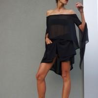 Loose fitting chiffon shorts A05611