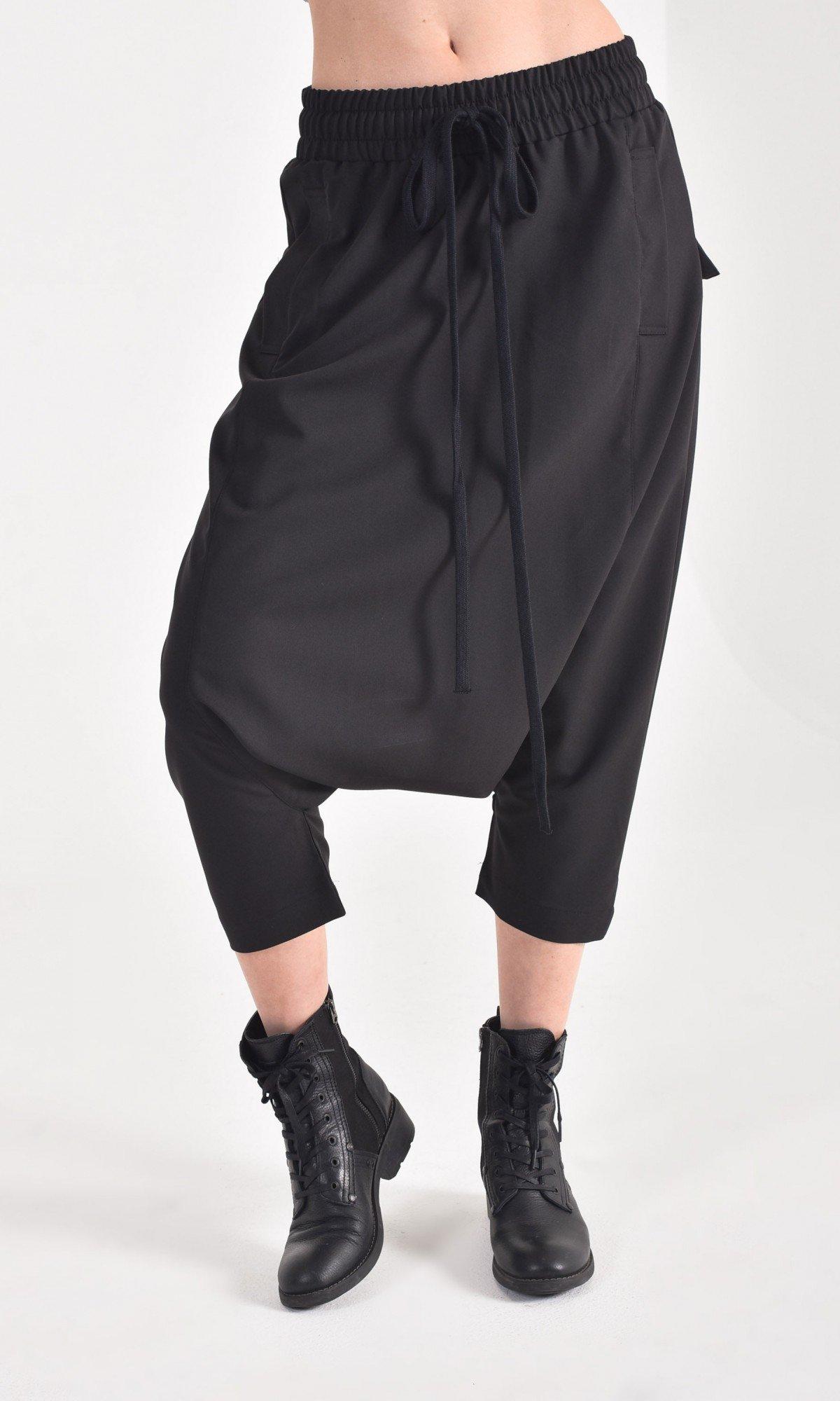 Casual 7/8 Drop Crotch Pants A05739