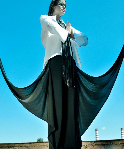 Extravagant Wide Leg Skirt Pants A05595