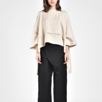 Loose Linen Overlapping Pants A90071