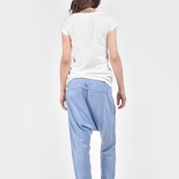 Loose Denim Like Drop Crotch Pants A05660