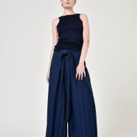Stylish Polyviscose Wide Leg Pants A05760