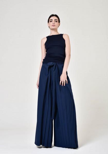 Stylish Polyviscose Wide Leg Pants A05760