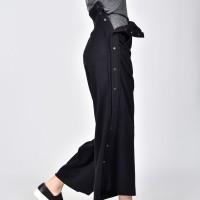 Side buttoned high waist pants A05712