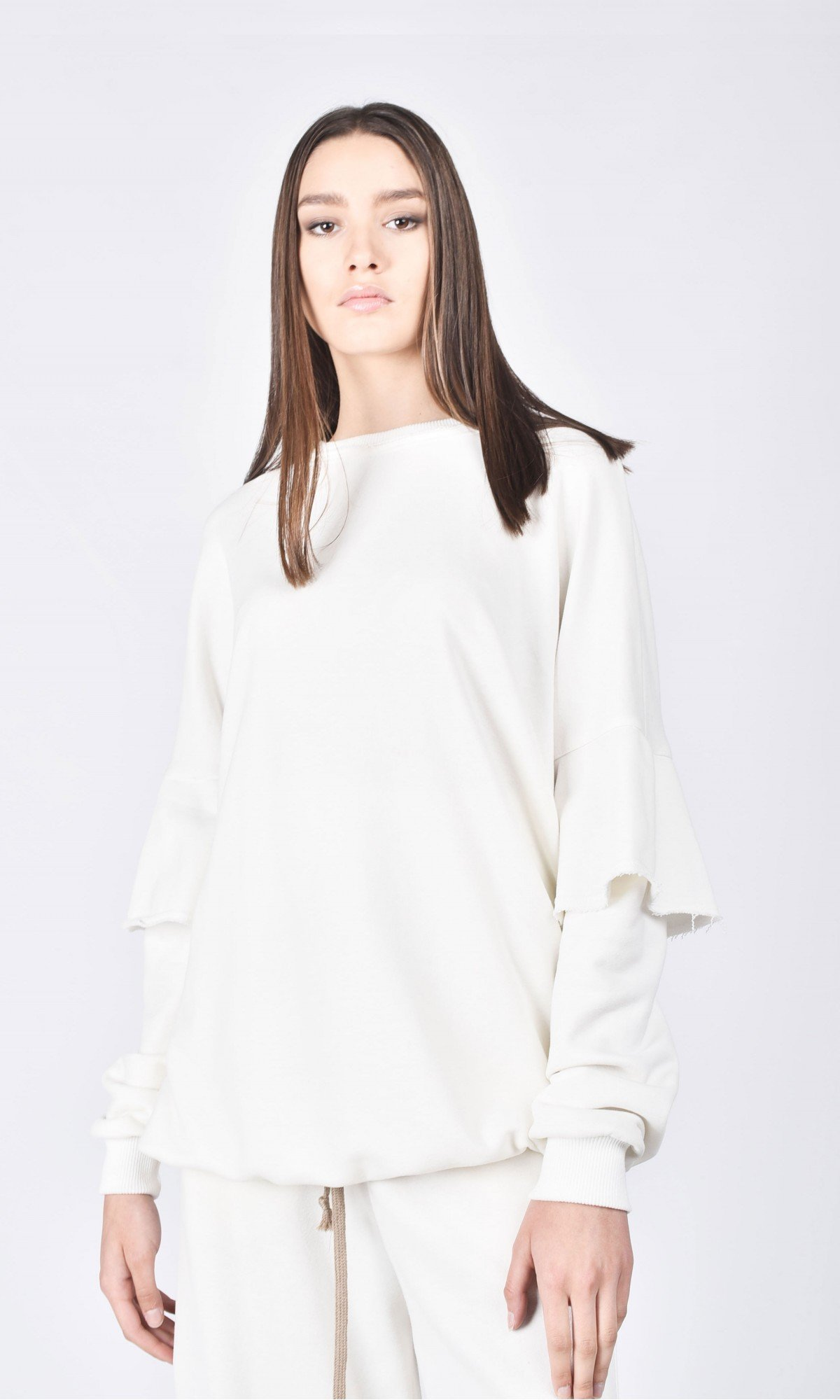 Soft Flared Sleeves Blouse