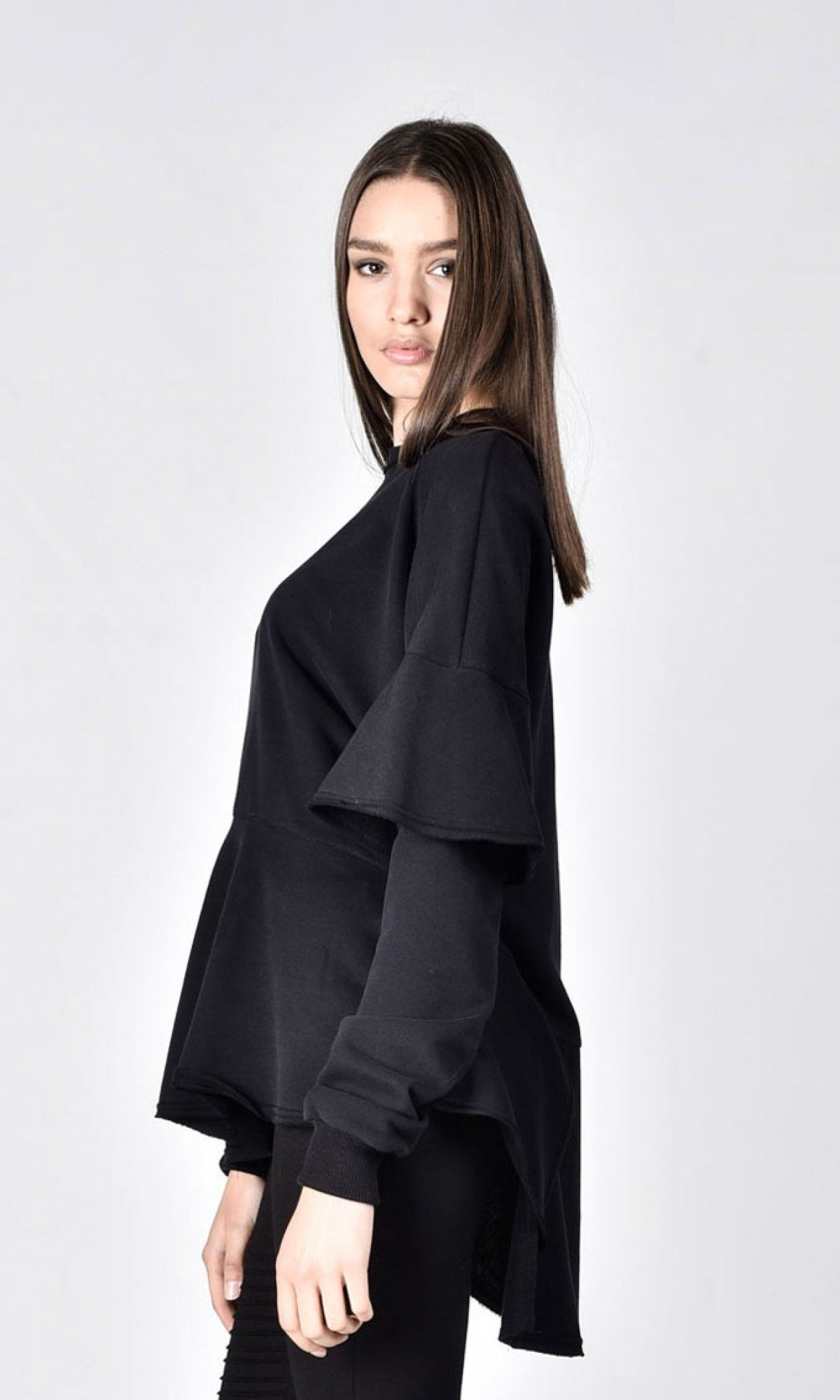 Soft Flared Sleeves Blouse A12722