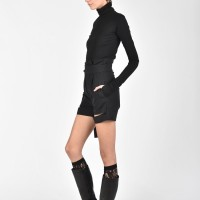 Stylish Cold Wool Shorts with adjustable ribbon A90189