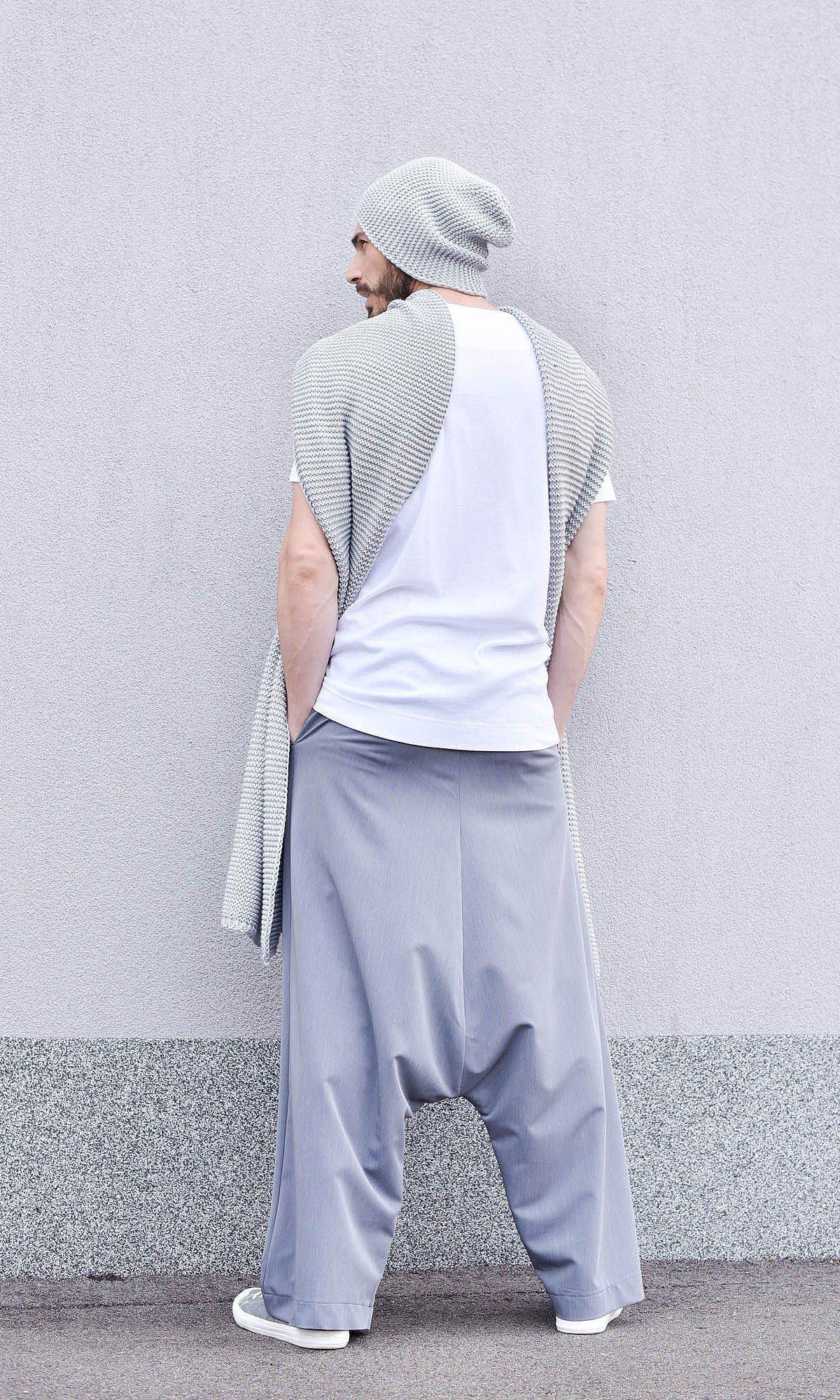 Deep Drop Crotch Polyviscose Pants A90221M