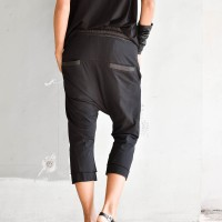 Sporty 7/8 drop crotch pants A90243