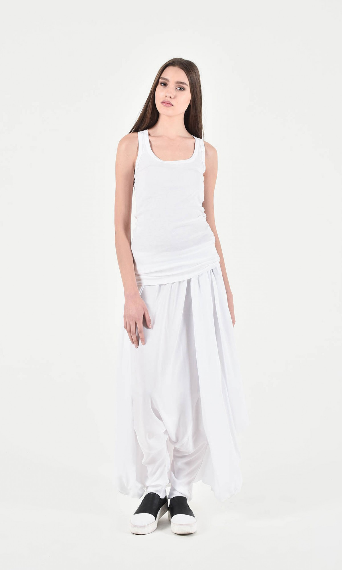 Elegant Wide Skirt - Pants A90248
