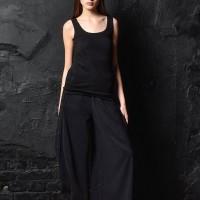 Side buttoned high waist multi way pants A90249