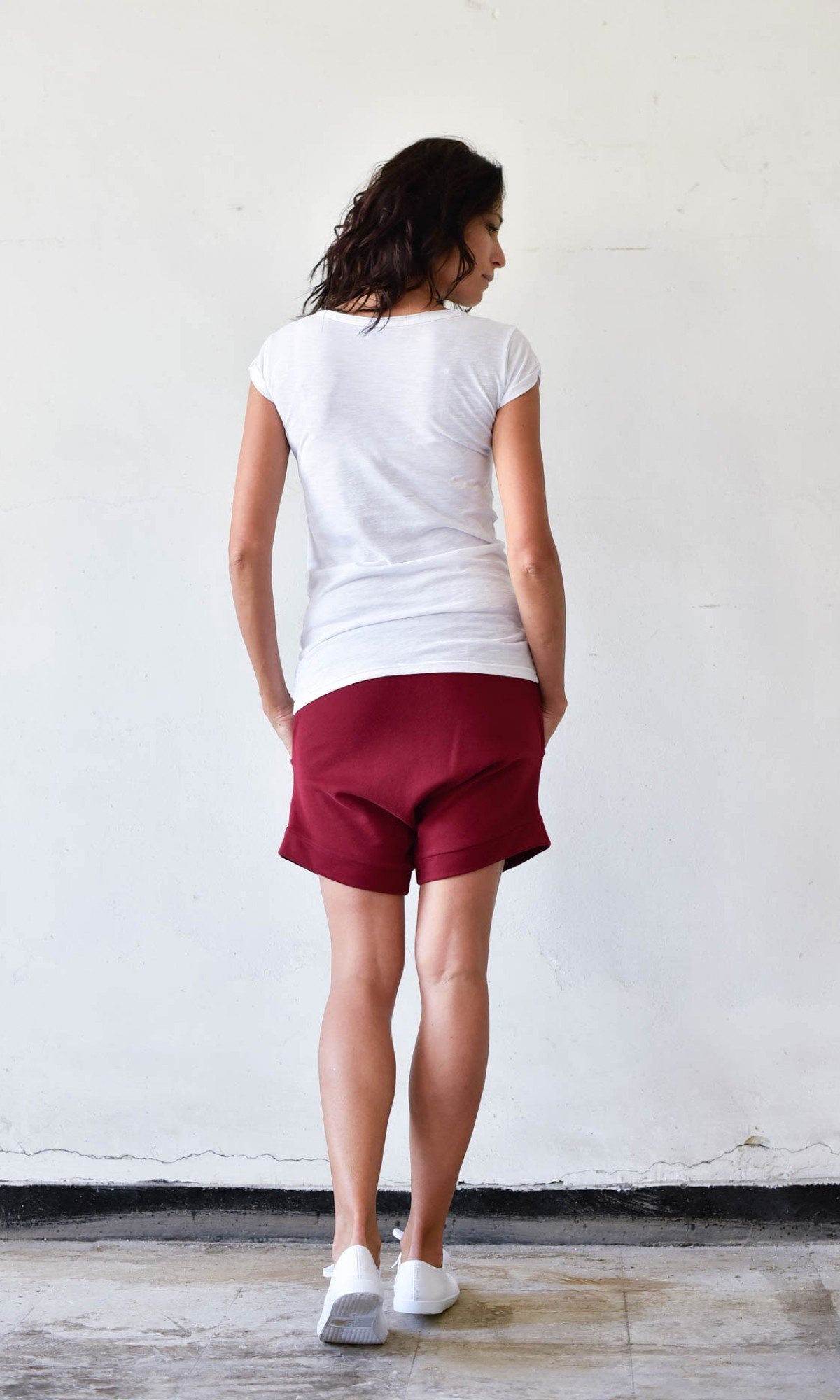 Cotton Drop Crotch Shorts