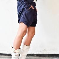 Cotton Drop Crotch Shorts A05740