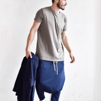 Casual 7/8 Drop Crotch Pants A05739M