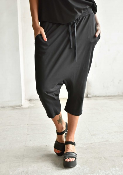 Casual 7/8 Drop Crotch Pants A90317