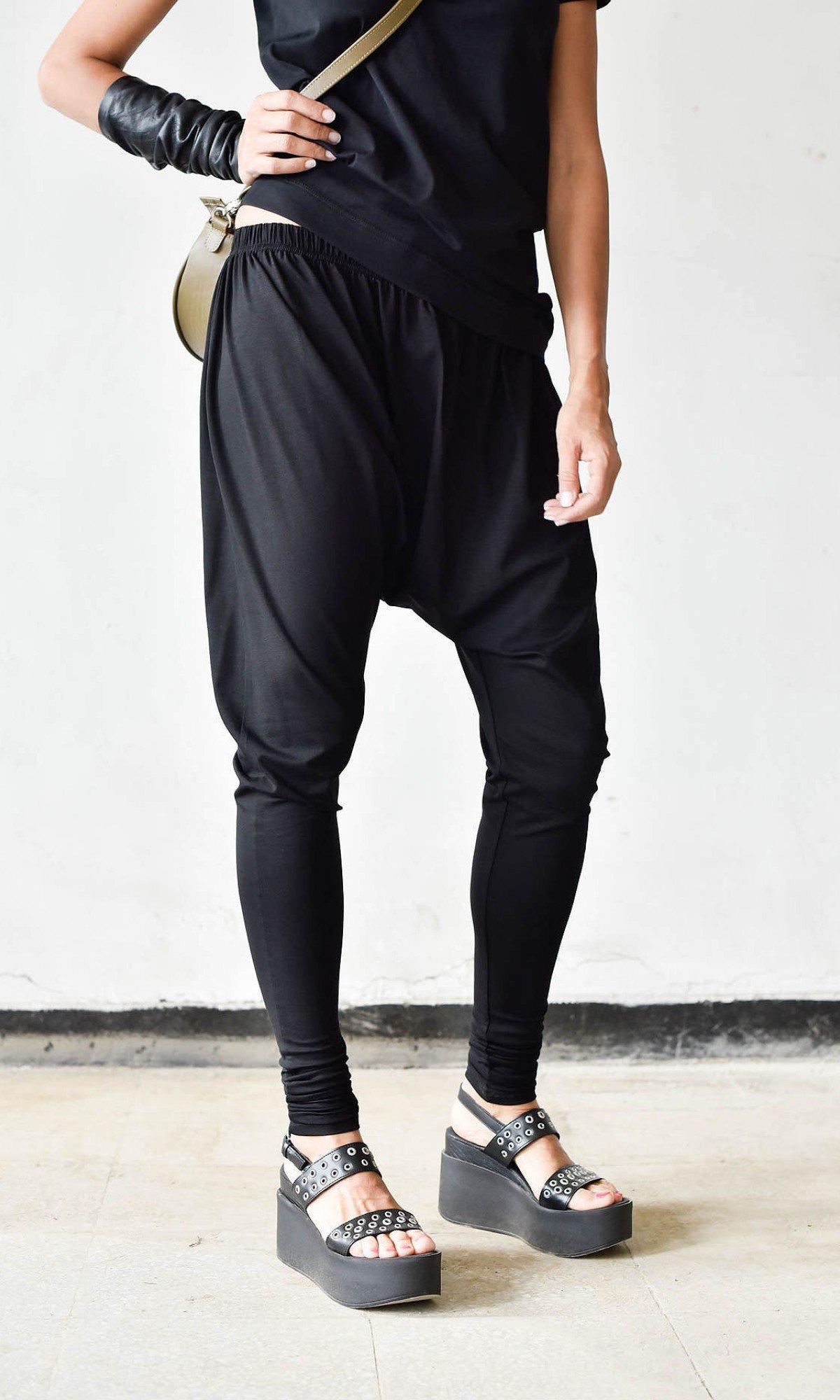 Casual Drop Crotch Jogger Pants A90323