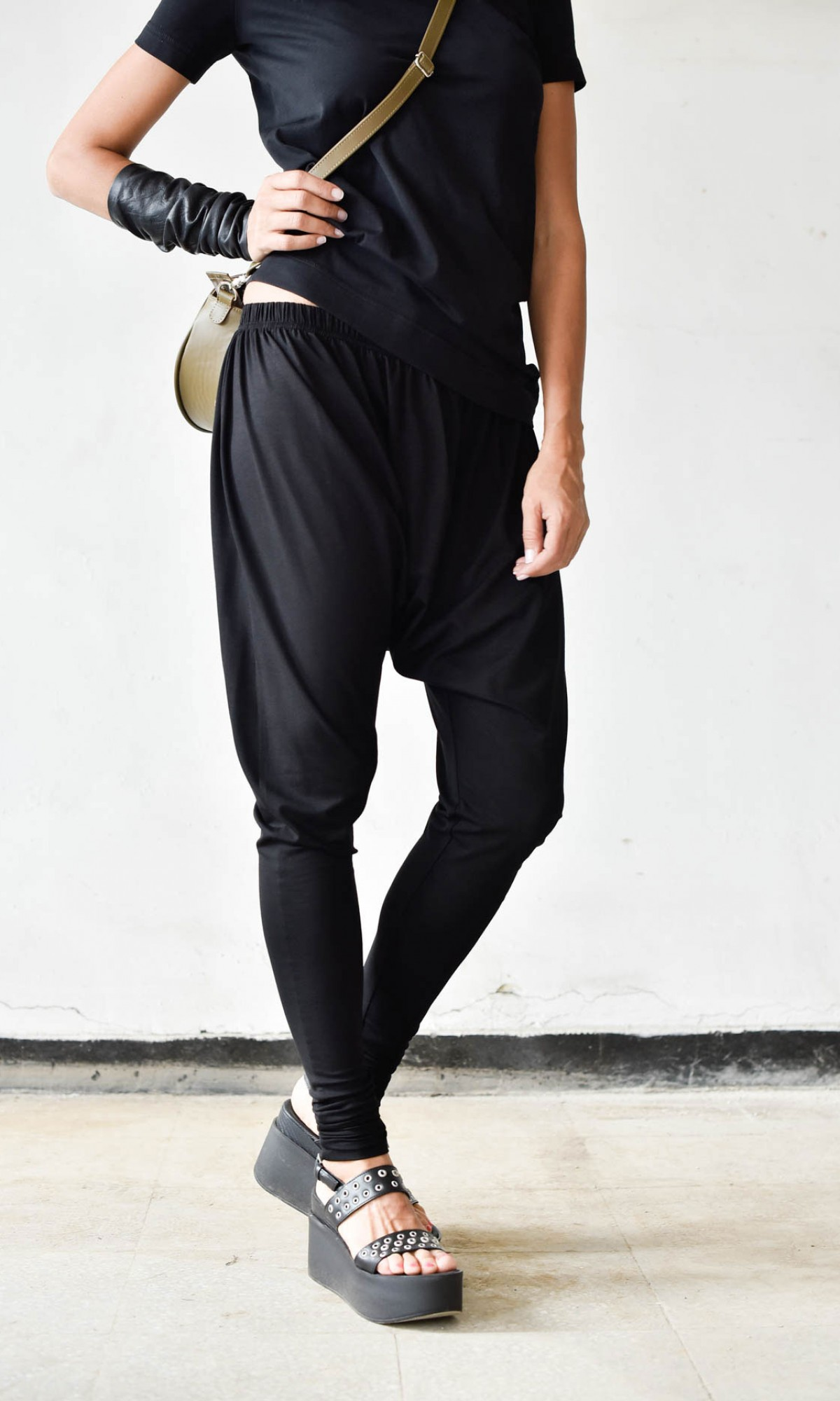 Casual Drop Crotch Jogger Pants A90323