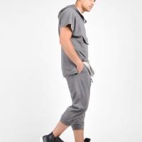 Drop Crotch Mid Calf Pants A90335