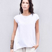 Loose Floaty White Top A90356