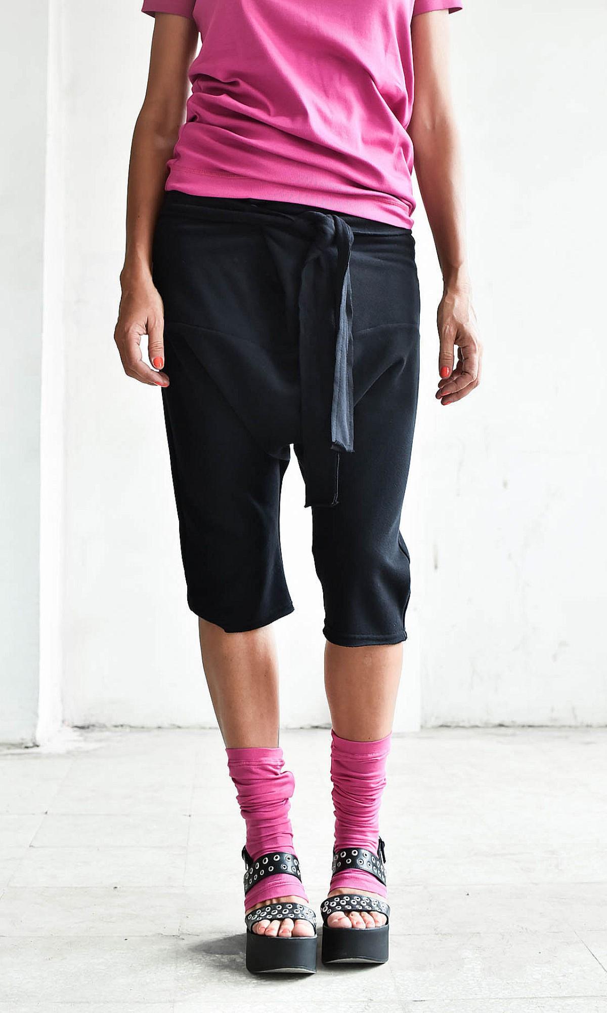 Casual 3/4 Drop Crotch Pants A05135