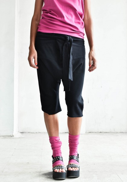 Casual 3/4 Drop Crotch Pants A05135