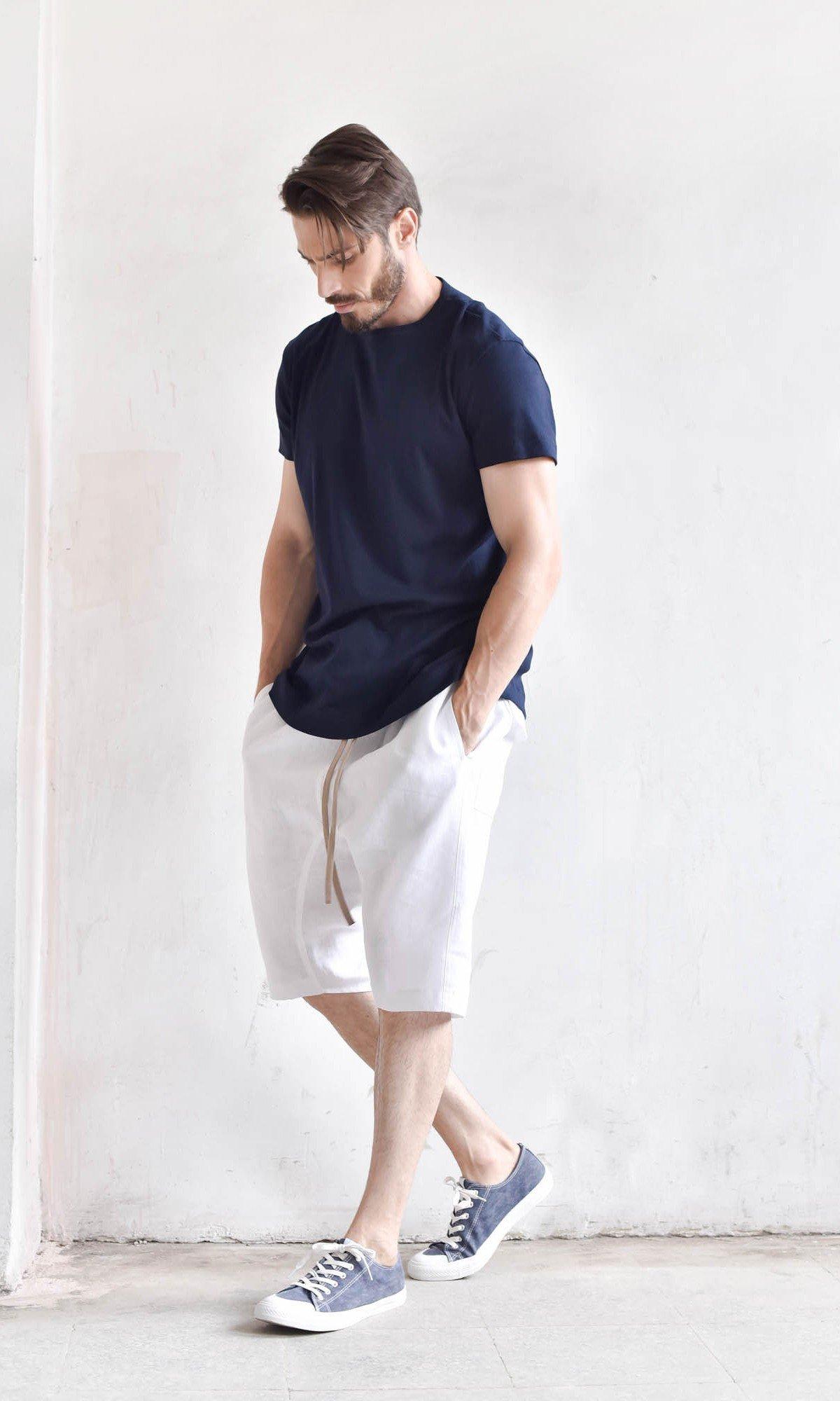 Casual  Linen Harem Shorts A90352M
