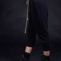 Loose Casual 7/8 Drop Crotch Pants A90434