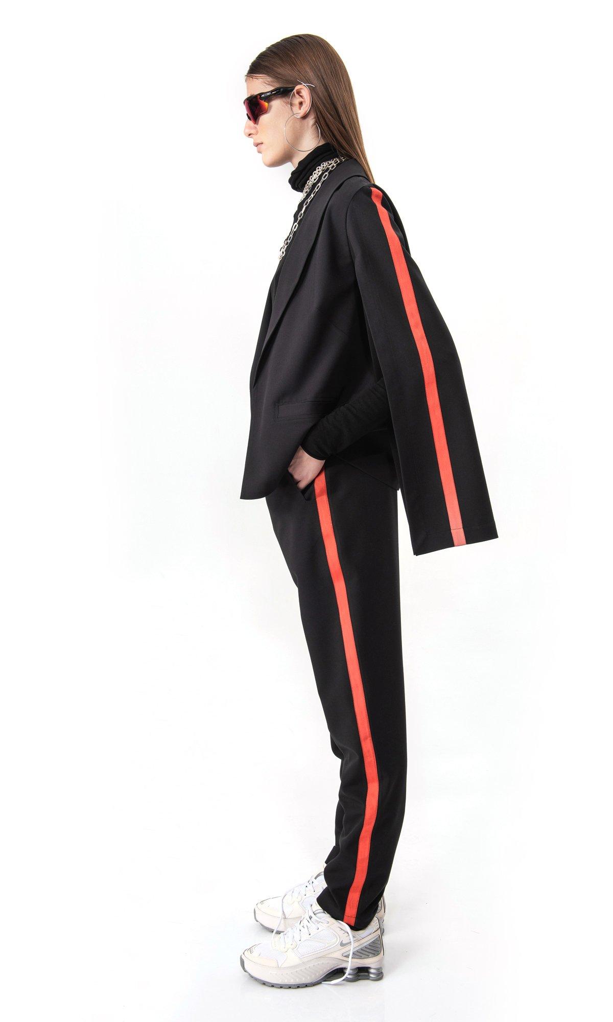 Brick Red Edging Suit