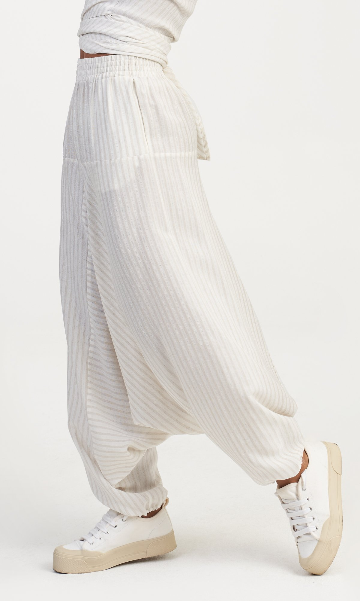 Linen Striped Matching Set