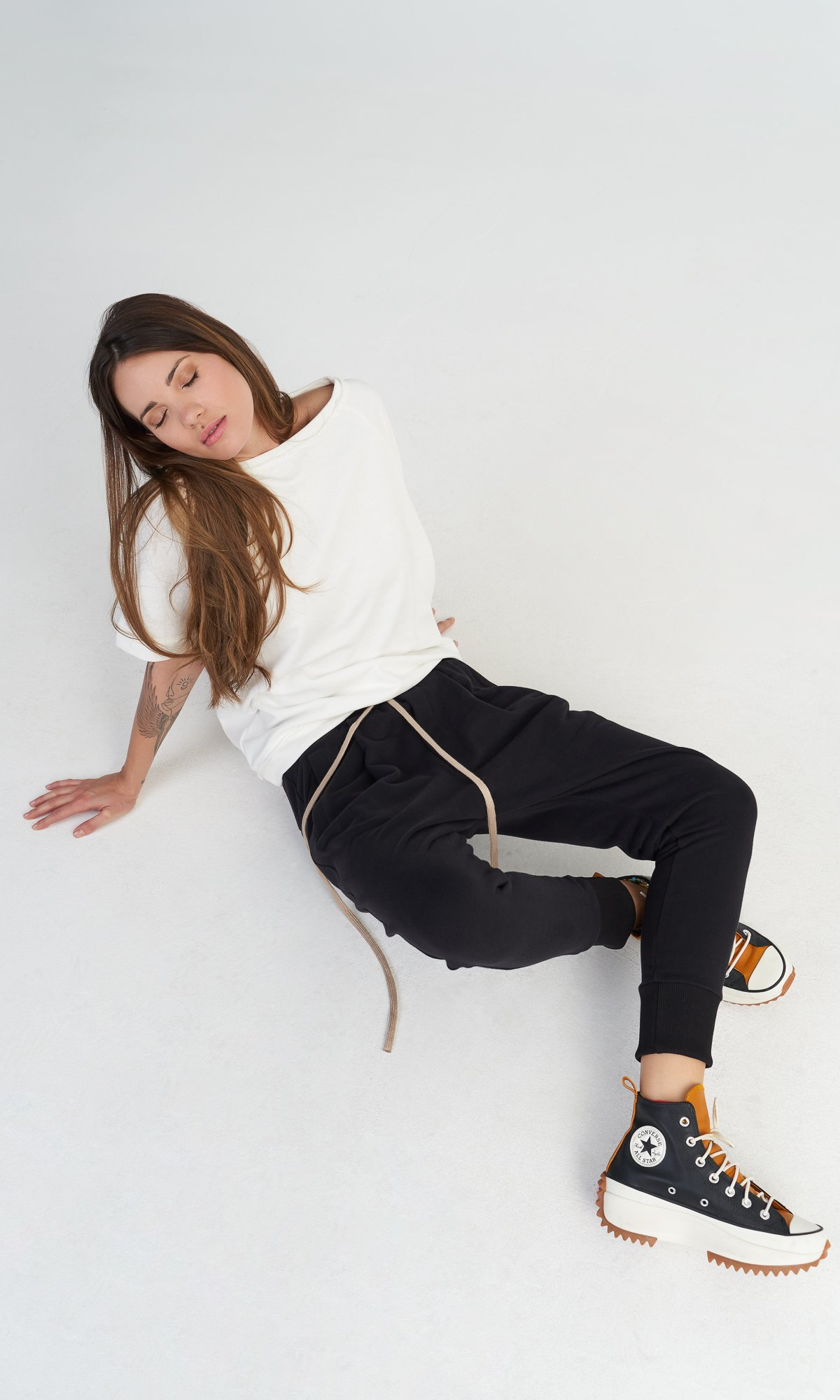 Cotton Harem Pants with Strings