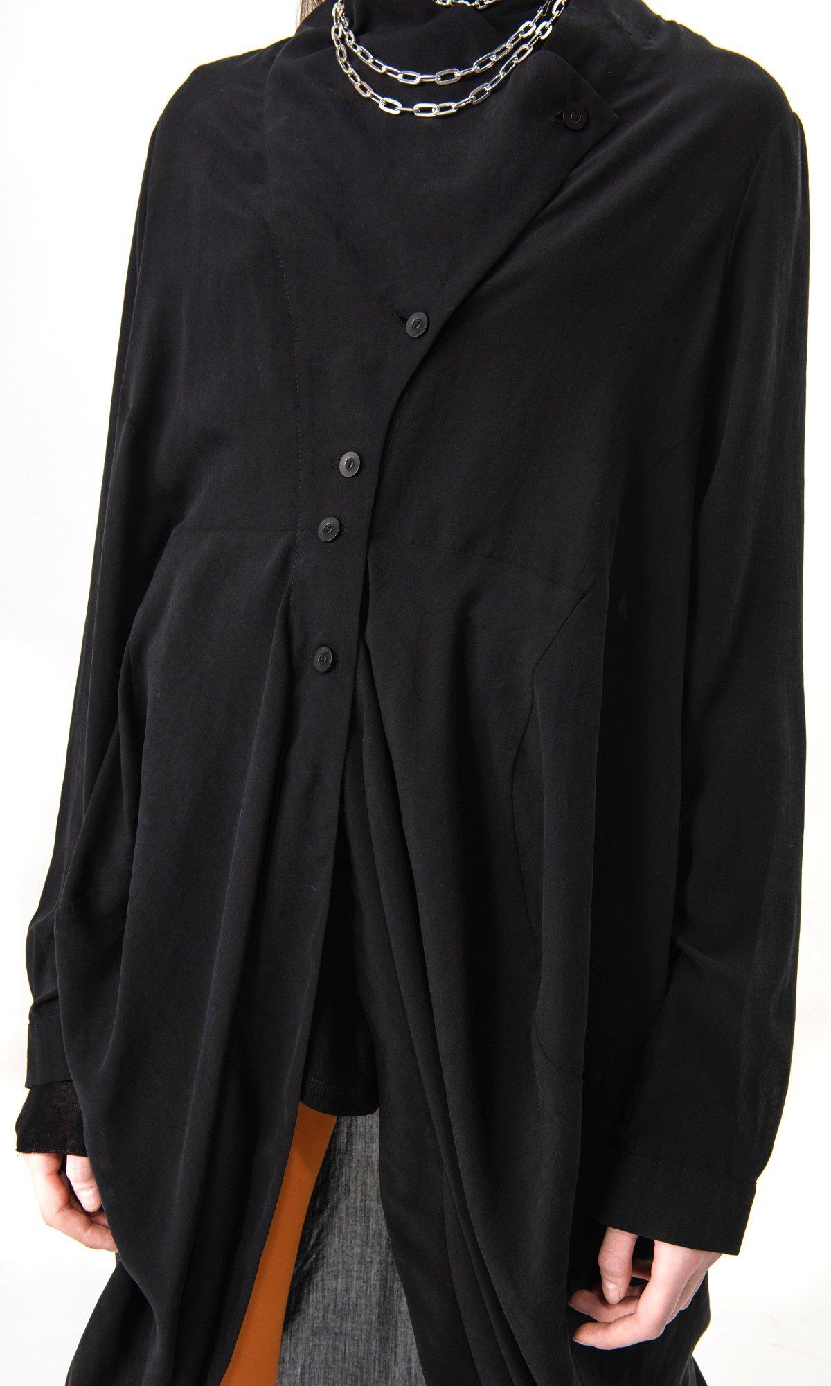 Draped Front Long Shirt
